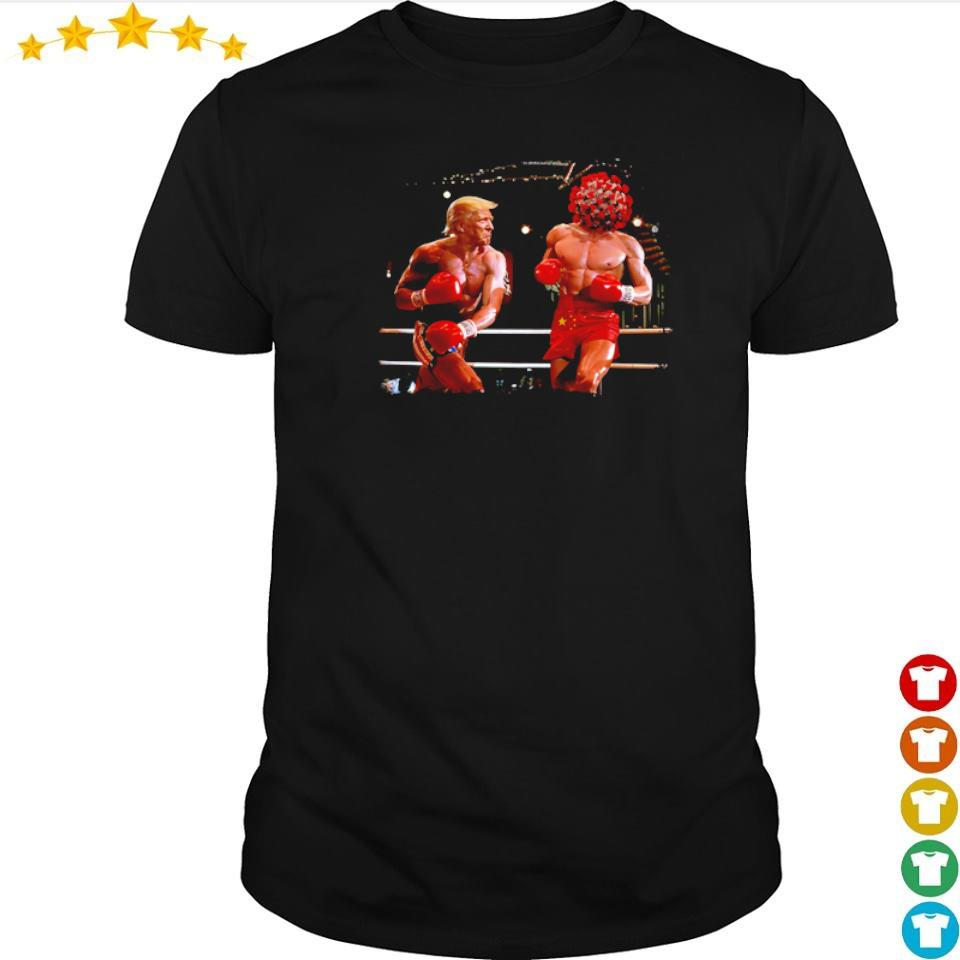 Donald Trump punch corona virus from China shirt