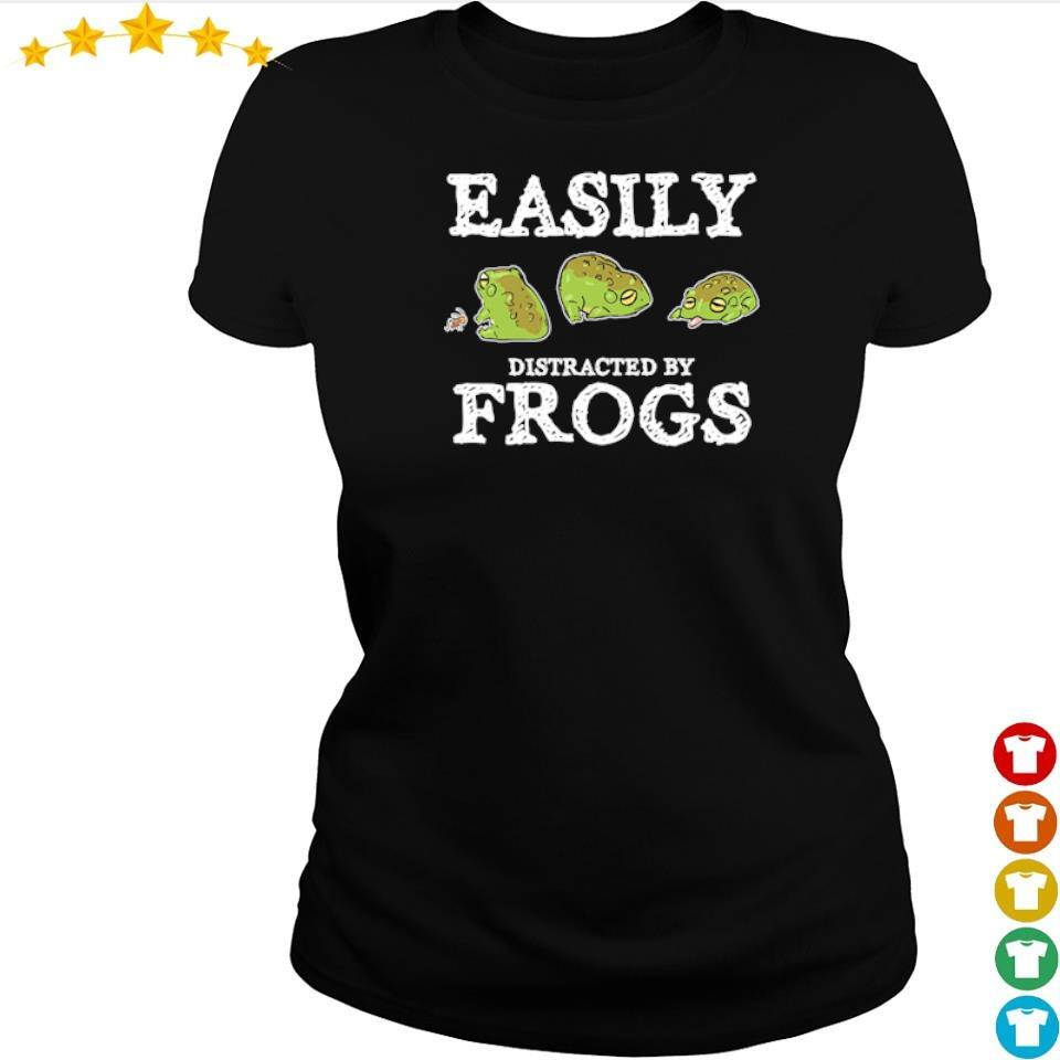 Easily distracted by frogs s ladies tee
