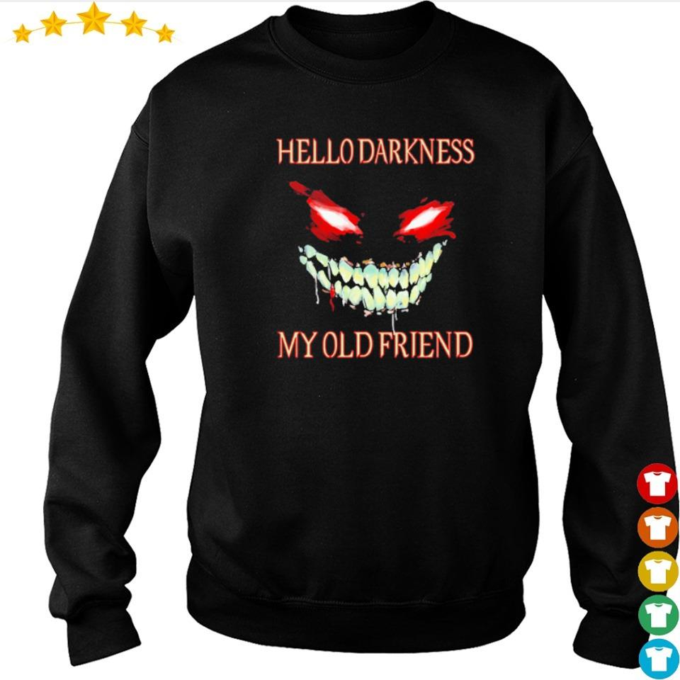 Evil Face hello darkness my old friend Halloween s sweater