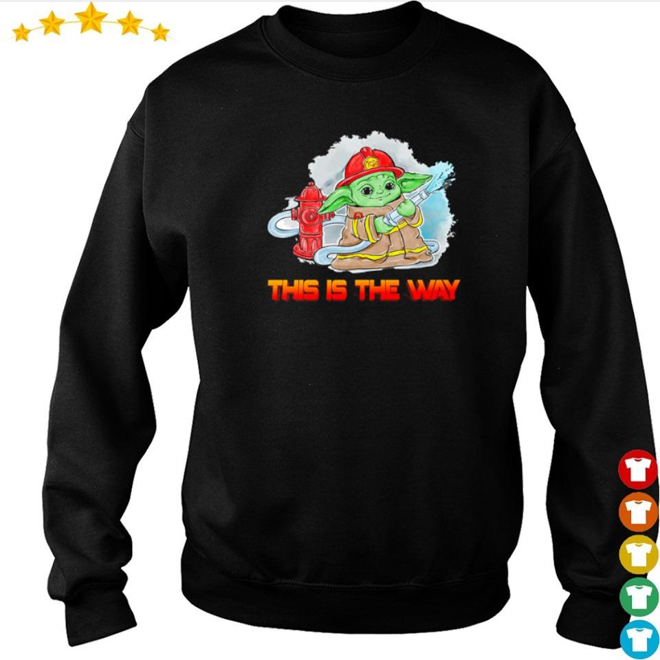 Firefighter Baby Yoda this is the way s sweater