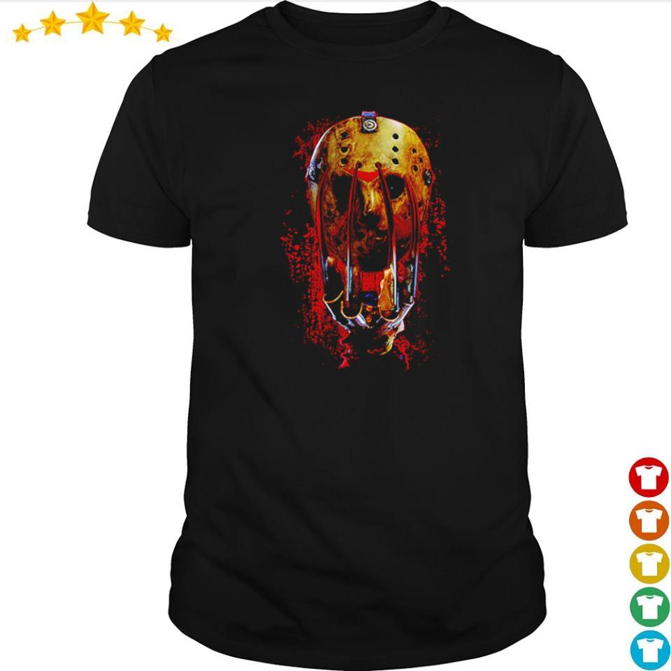 Glove and mask Freddy vs Jason shirt