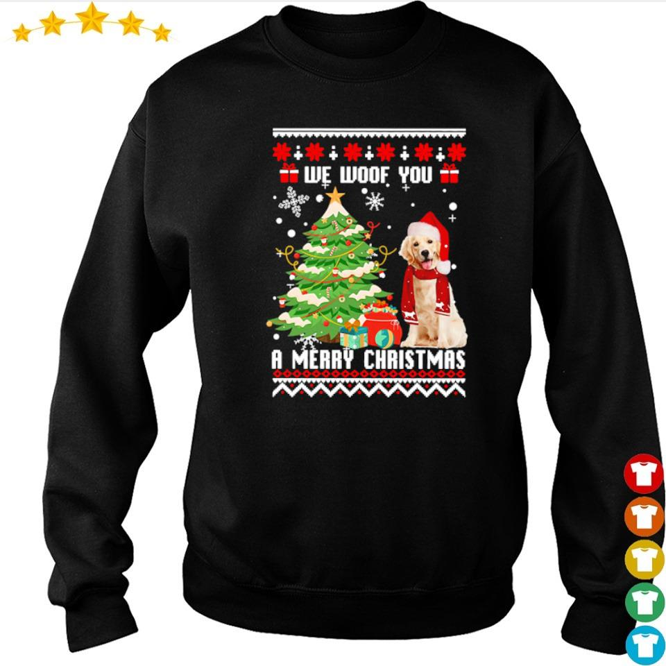 Golden Retriever we woof you a merry Christmas s sweater