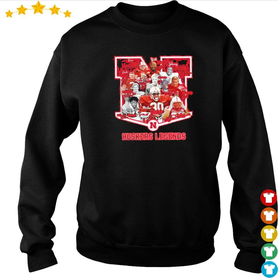Huskers Legends football team signature s sweater