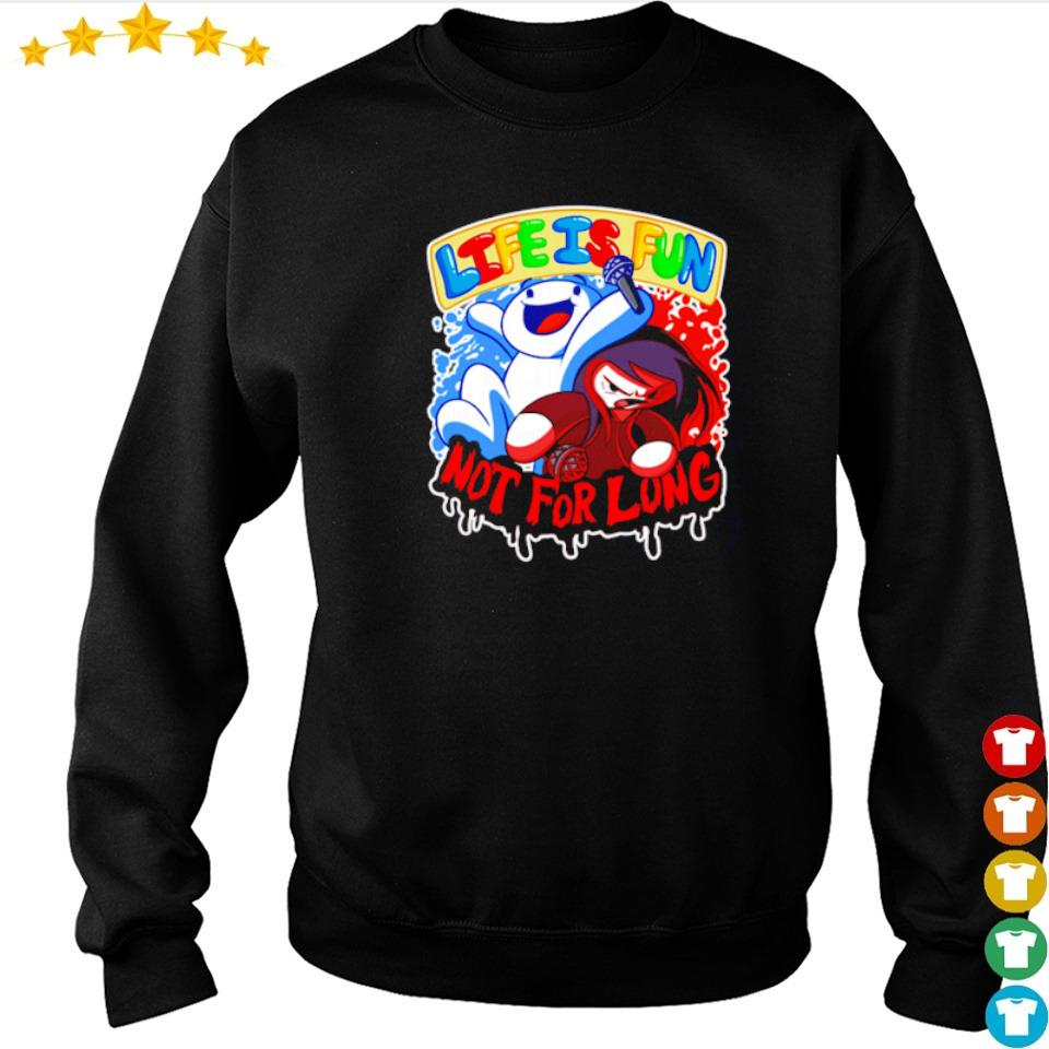 Ice and fire life is fun not for long s sweater