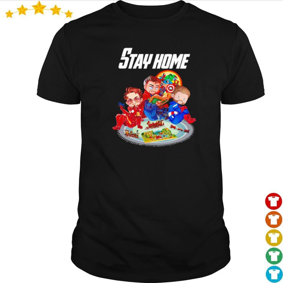 Iron Man Doctor Strange and Captain America stay home shirt