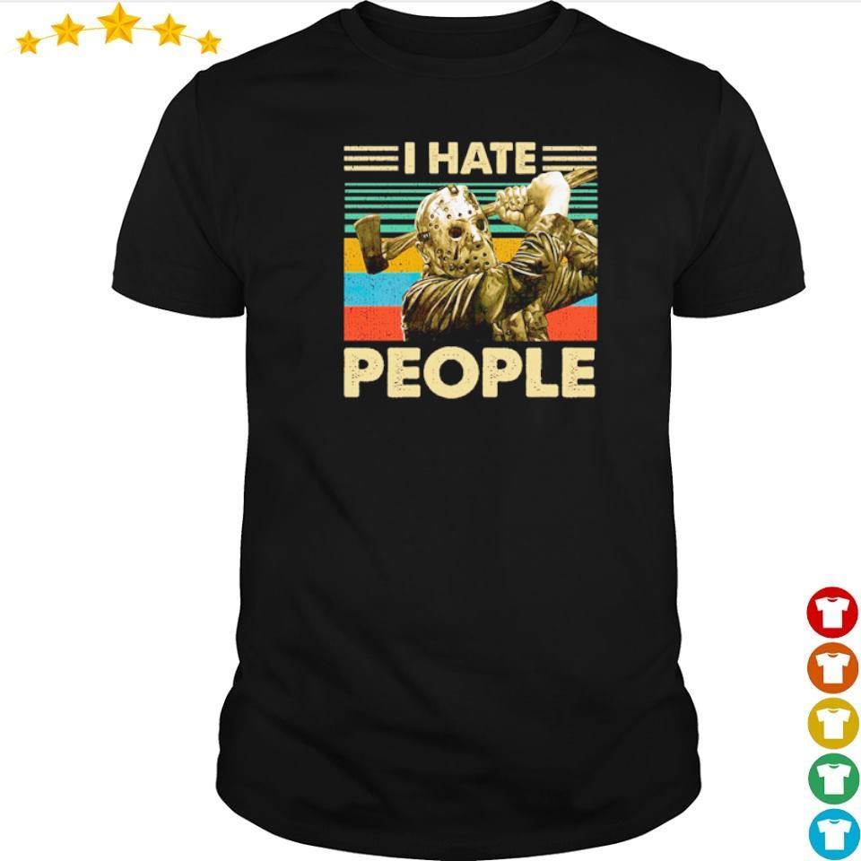 Jason Voorhees I hate people vintage shirt