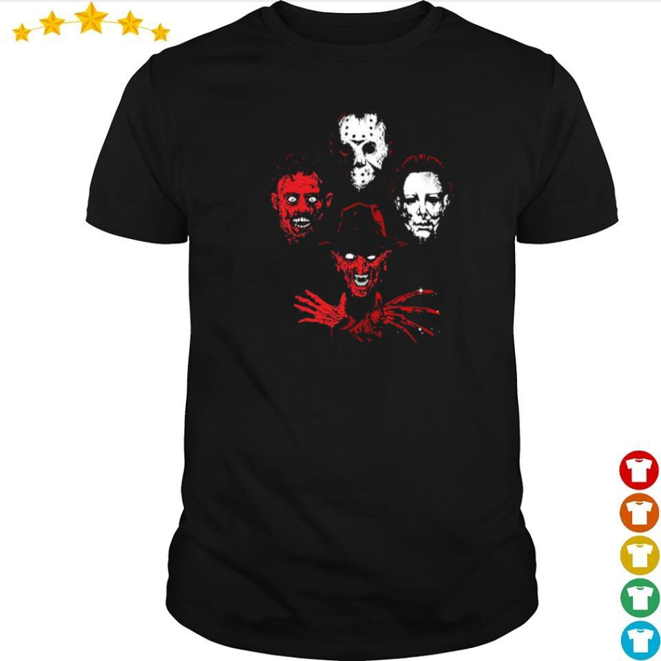 Jason Voorhees Leatherface Freddy Krueger and Michael Myers Halloween rap shirt