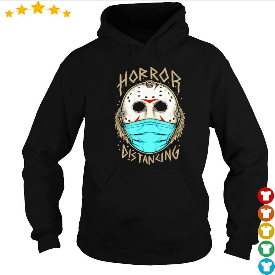 Jason Voorhees wearing mask horror distancing Halloween s hoodie