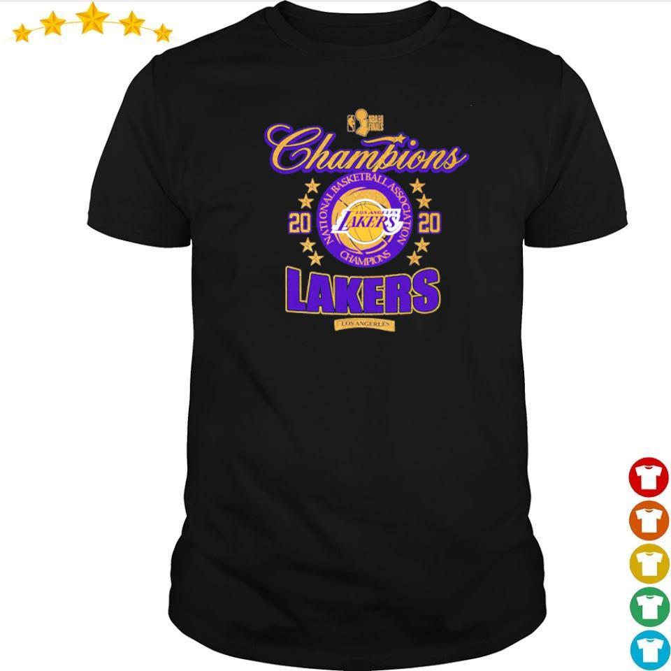 Los Angeles Lakers national basketball association champions 2020 shirt