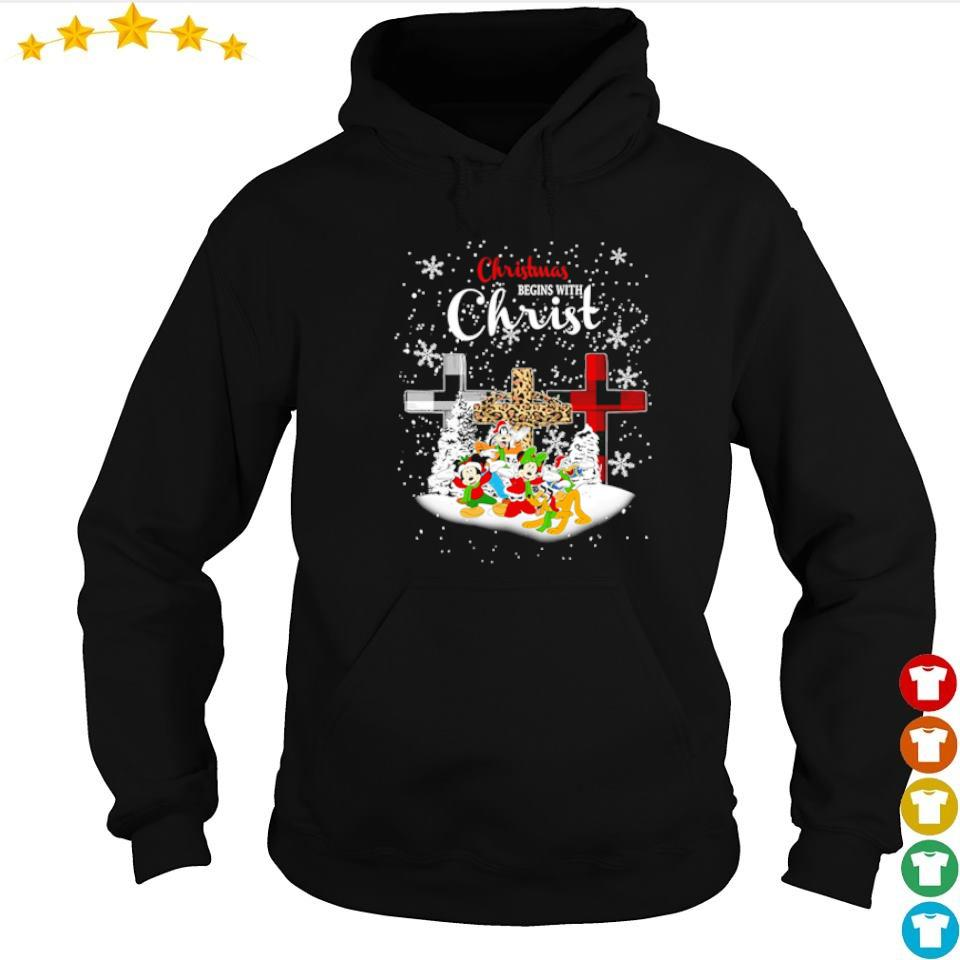 Mickey Mouse and friends Christmas begins with Christ s hoodie