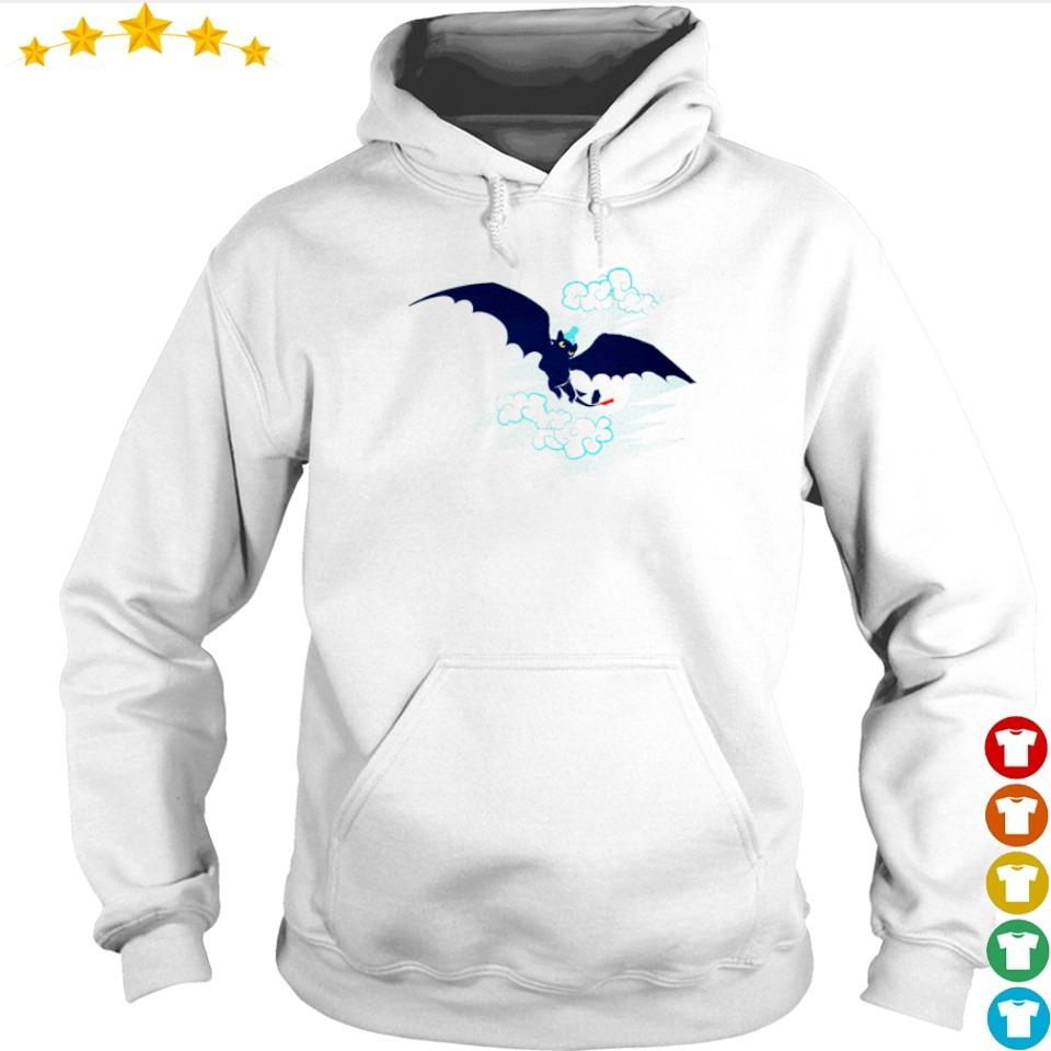 Night Fury flying under sky s hoodie