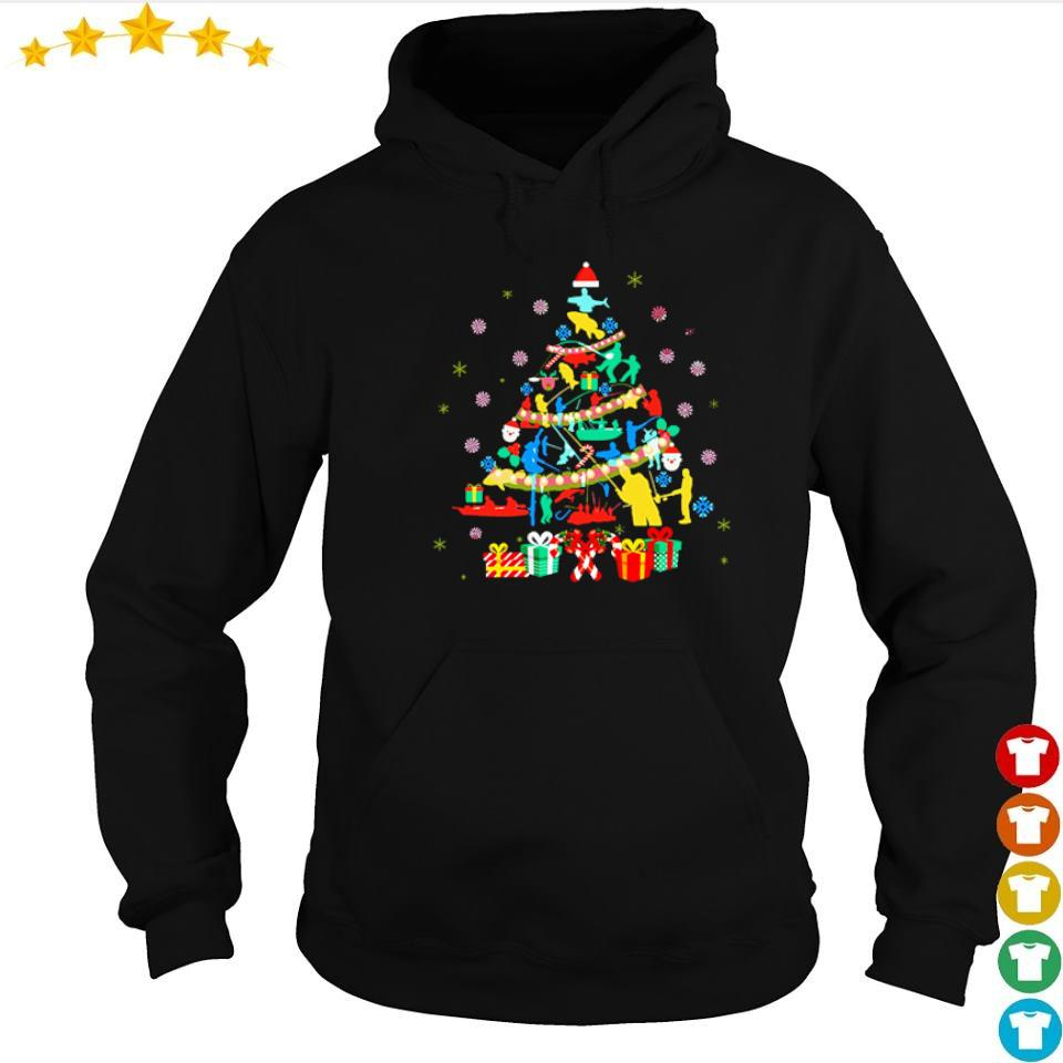 Official fishing on Christmas tree s hoodie