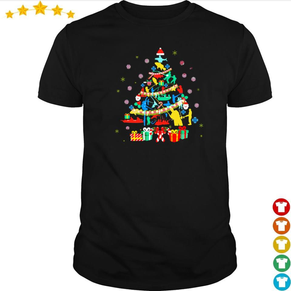 Official fishing on Christmas tree shirt
