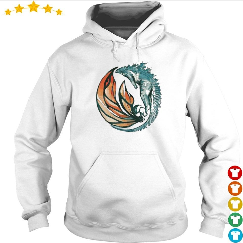 Official Godzilla flying with Mothra s hoodie