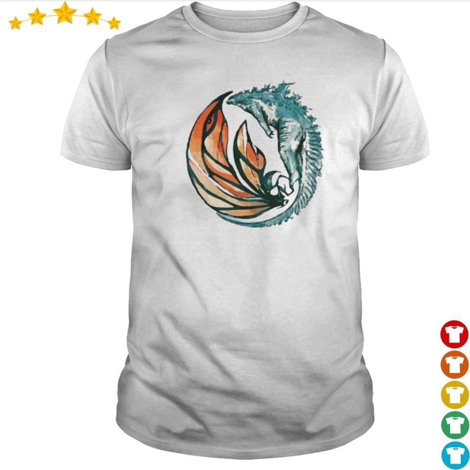 Official Godzilla flying with Mothra shirt