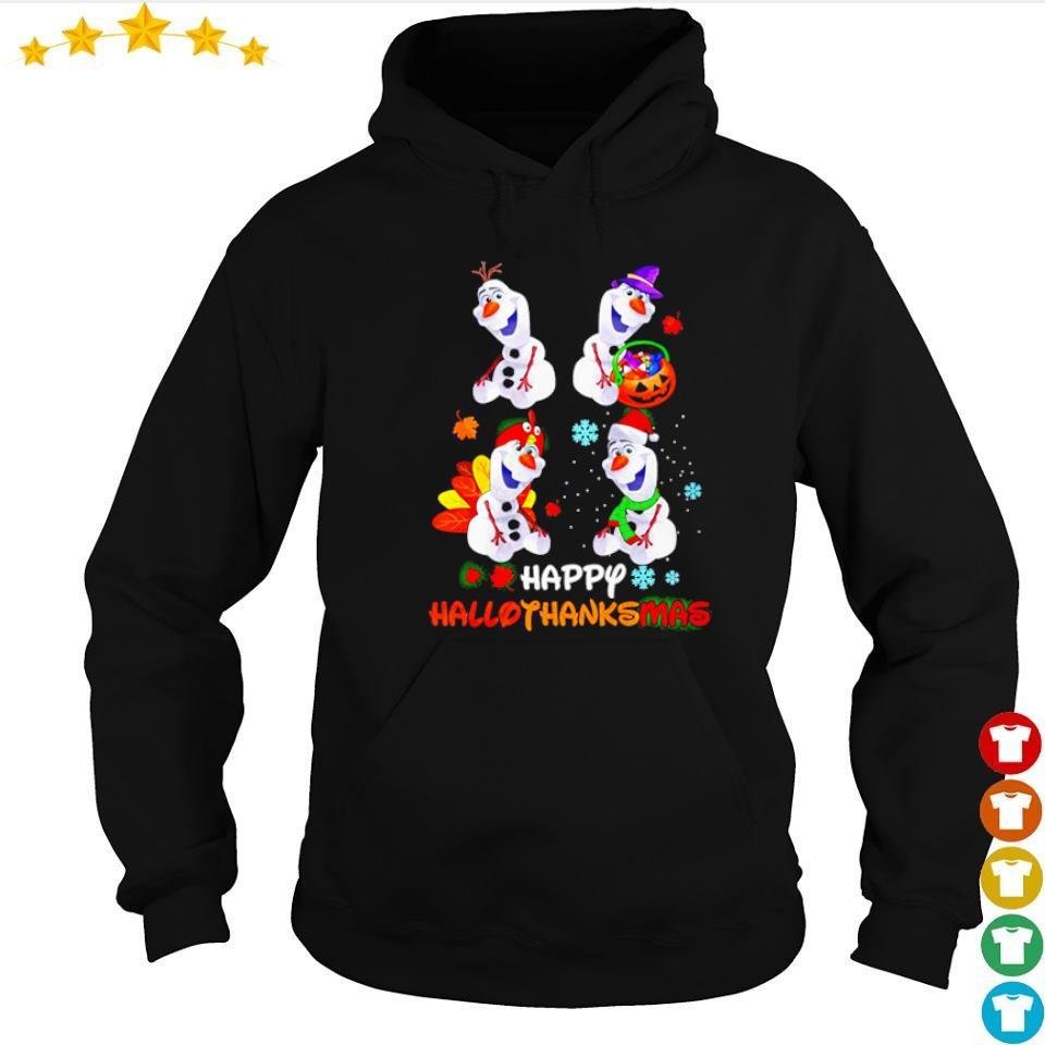 Official Olaf happy hallothanksmas s hoodie
