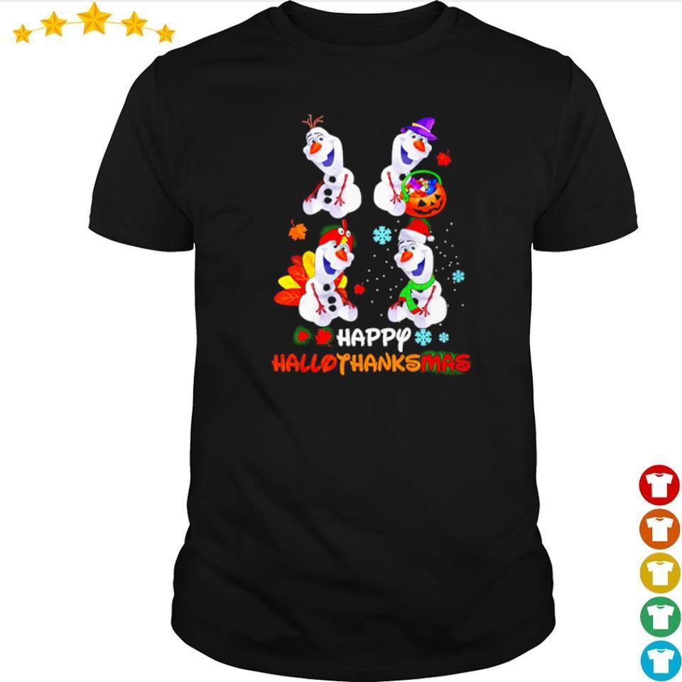 Official Olaf happy hallothanksmas shirt