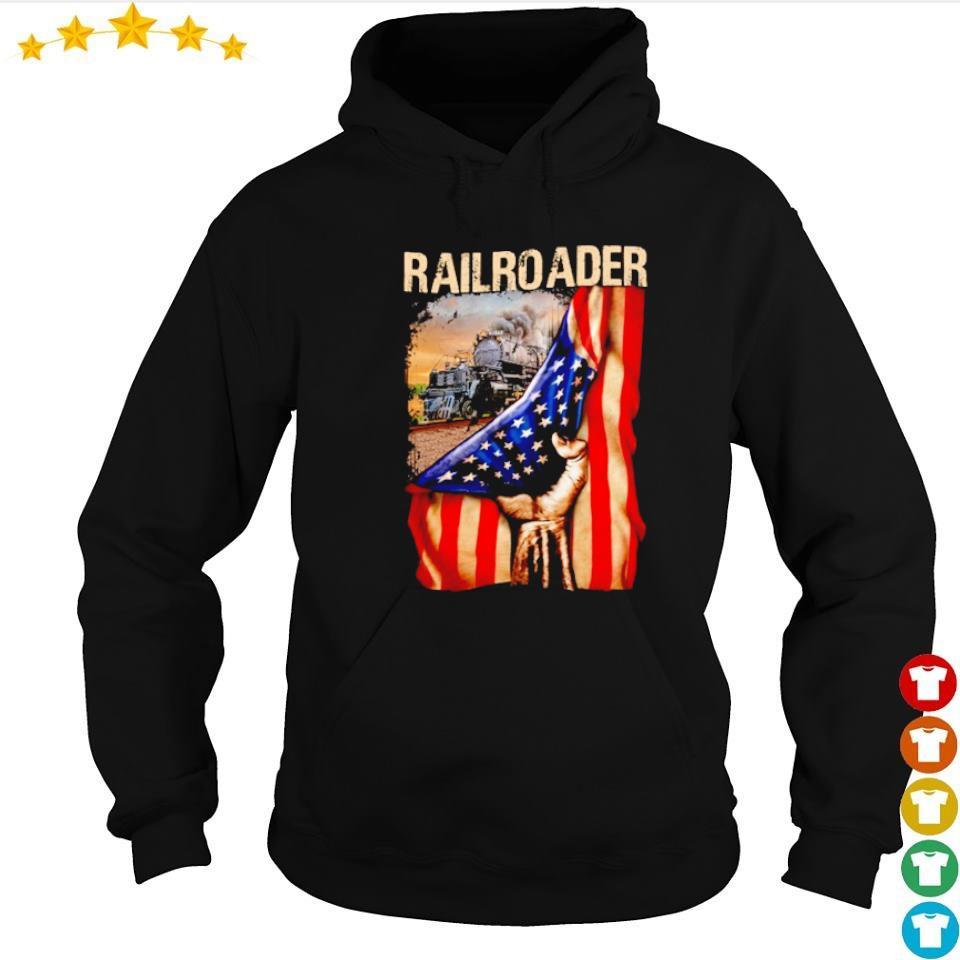 Official railroader American Flag s hoodie