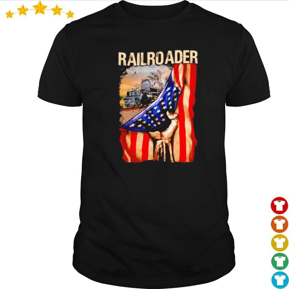Official railroader American Flag shirt