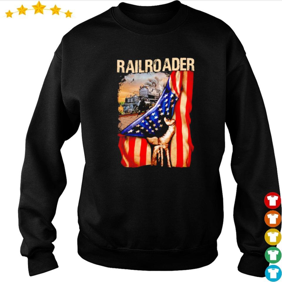 Official railroader American Flag s sweater