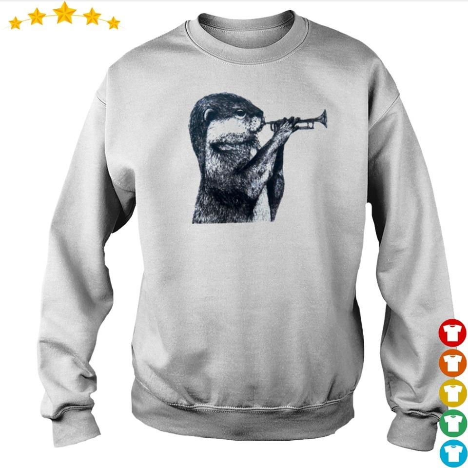 Otter blow the trumpet s sweater