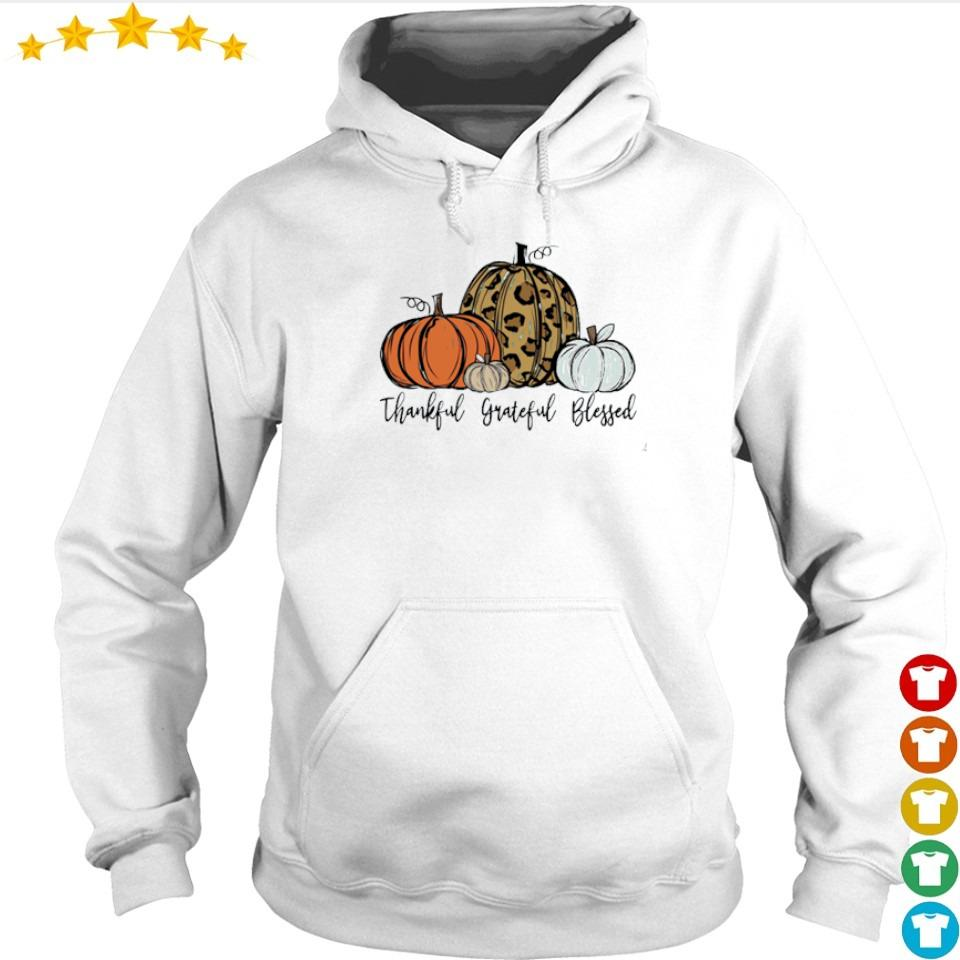 Pumpkin thankful grateful blessed happy Halloween s hoodie