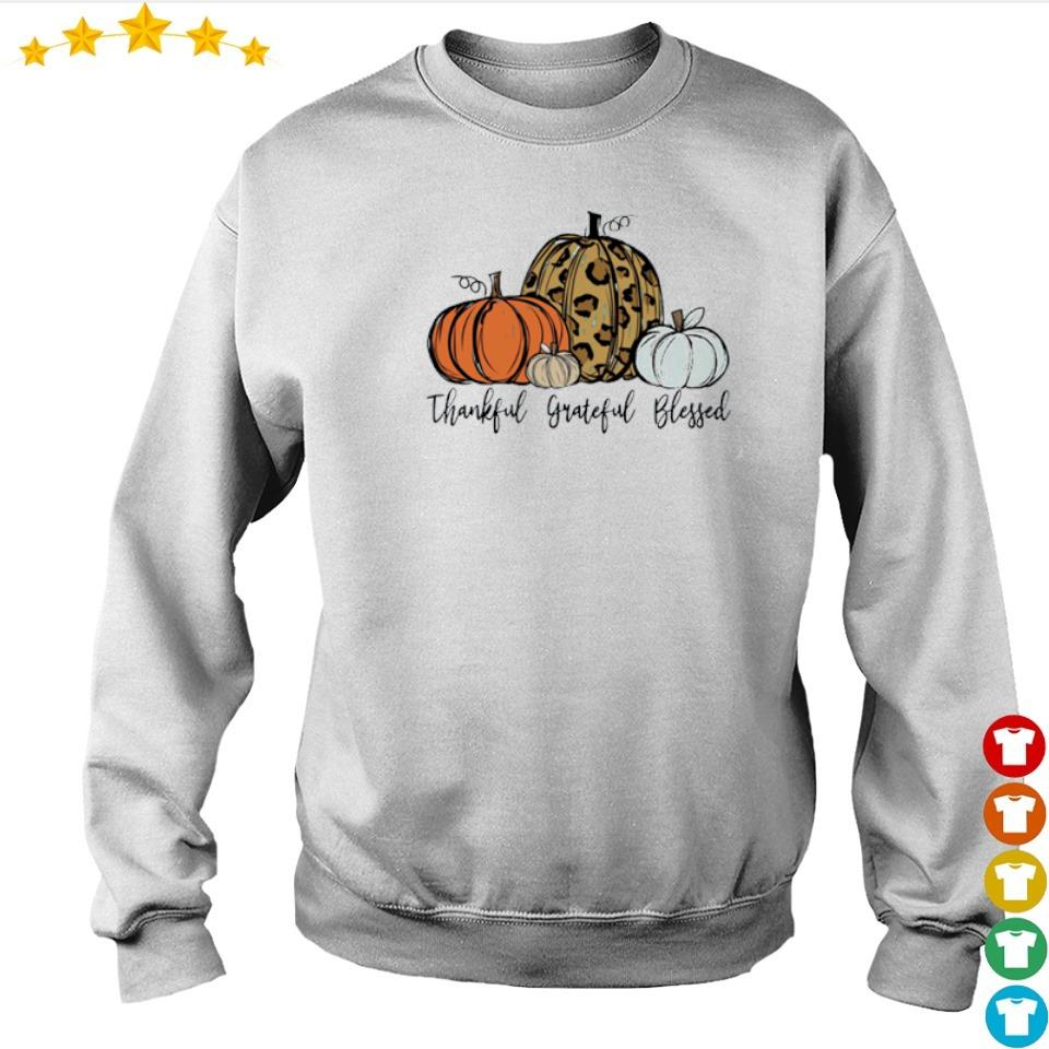 Pumpkin thankful grateful blessed happy Halloween s sweater