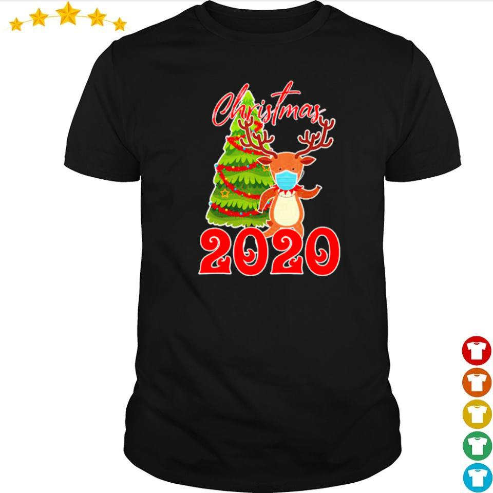 Reindeer wearing mask 2020 merry Christmas shirt