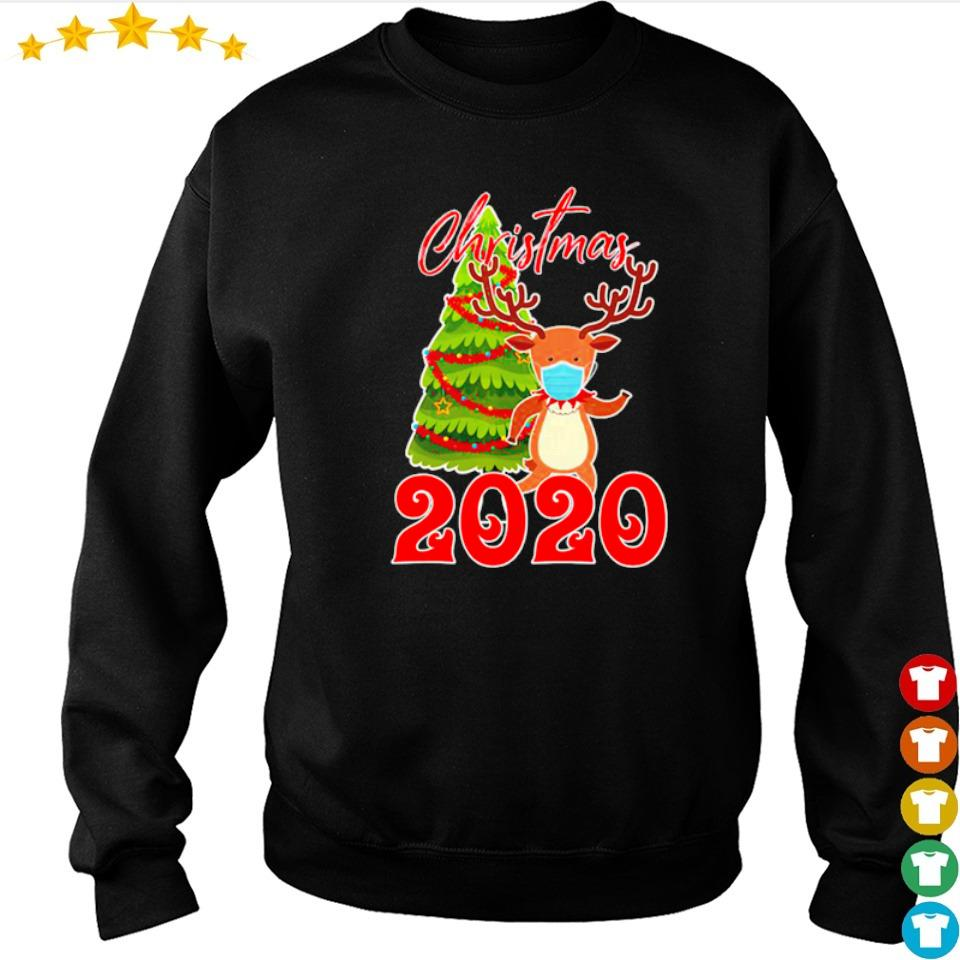 Reindeer wearing mask 2020 merry Christmas s sweater