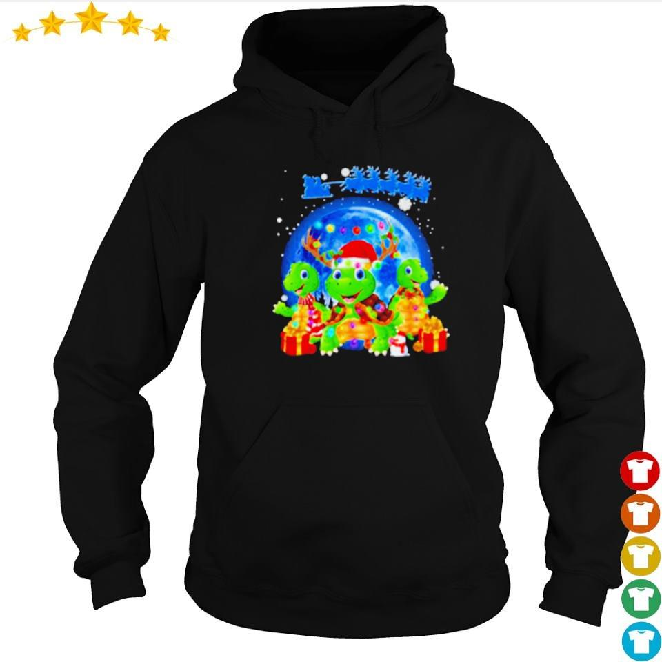 Santa and turtles merry Christmas s hoodie