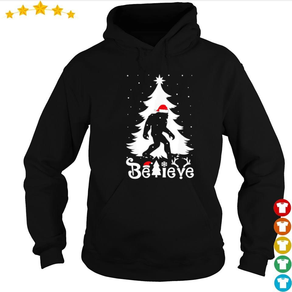 Santa bigfoot believe merry Christmas s hoodie