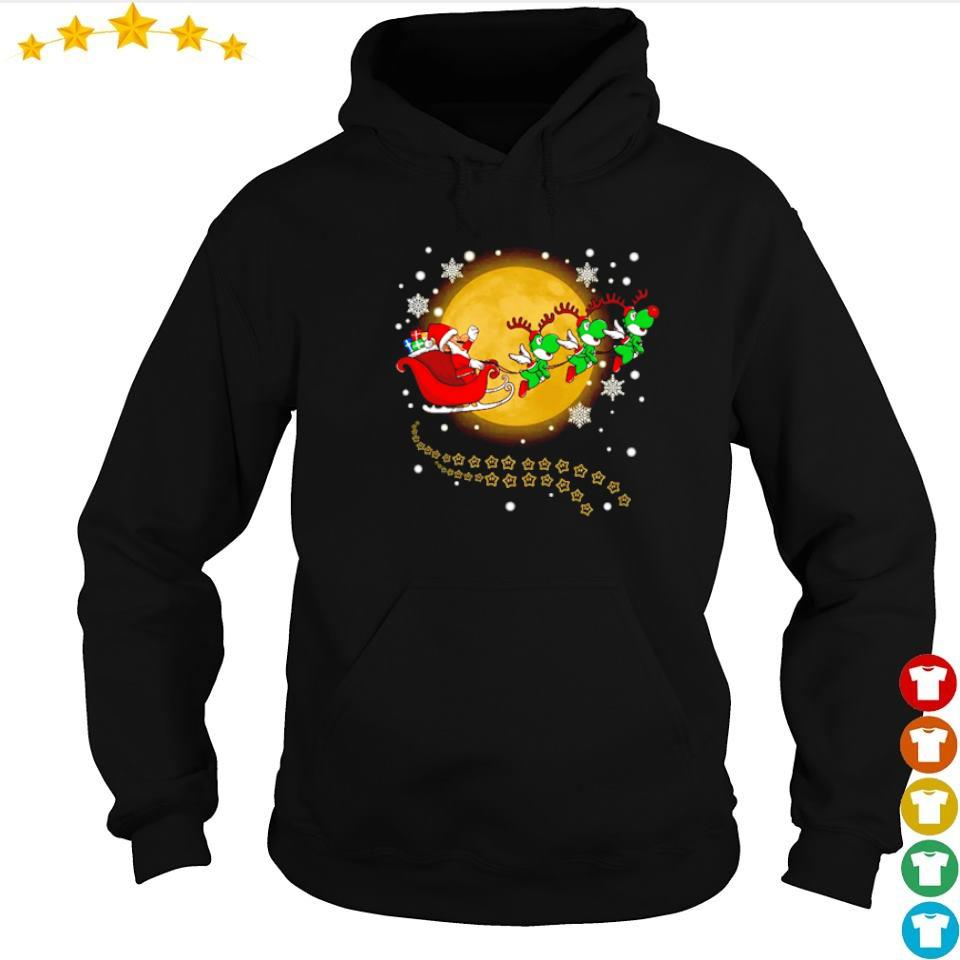 Santa Claus riding Yoshi happy Halloween s hoodie