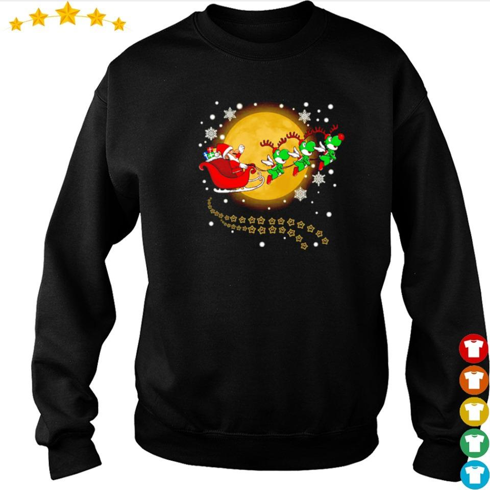 Santa Claus riding Yoshi happy Halloween s sweater