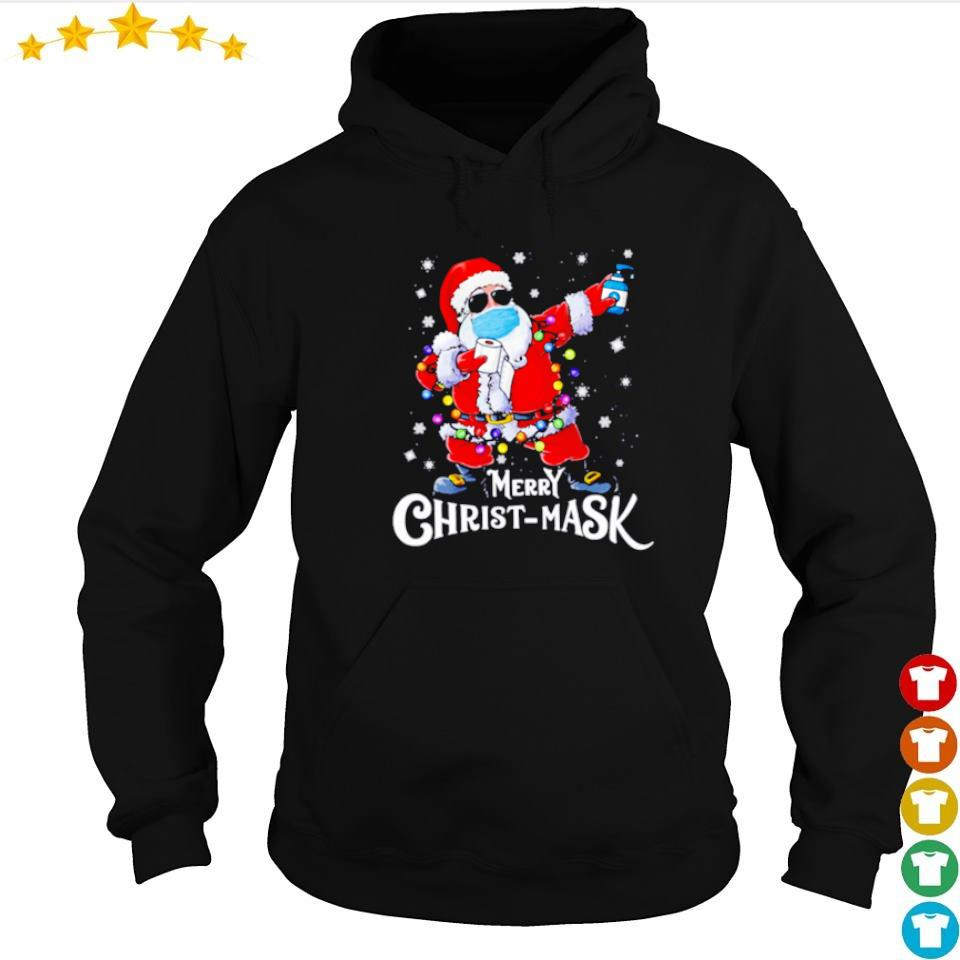 Santa wearing mask merry Christmask s hoodie