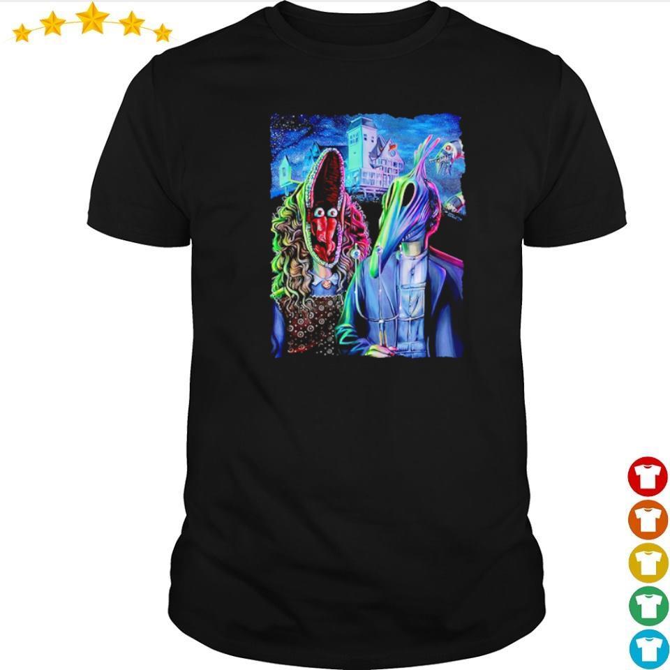 Scary Beetlejuice gothic happy Halloween shirt
