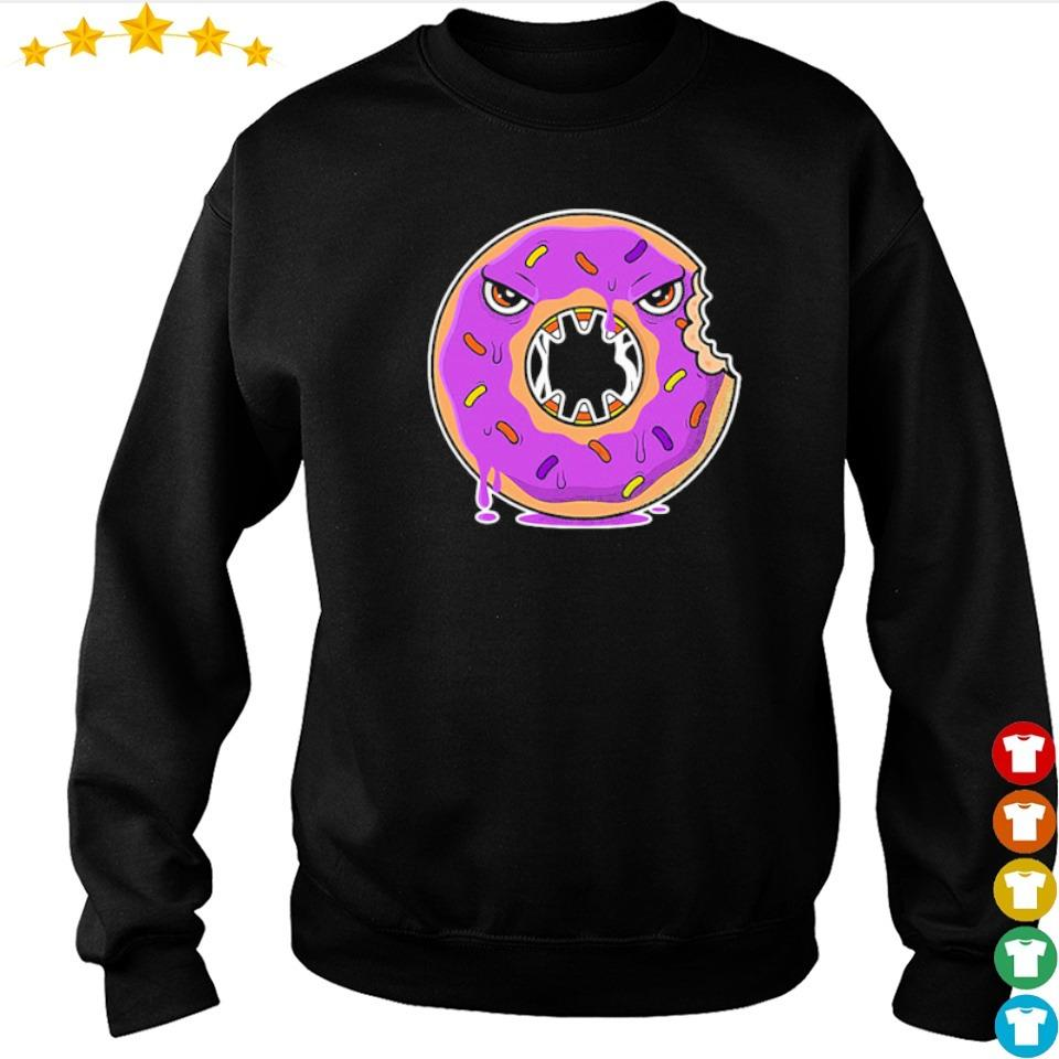 Scary donut costume happy Halloween s sweater