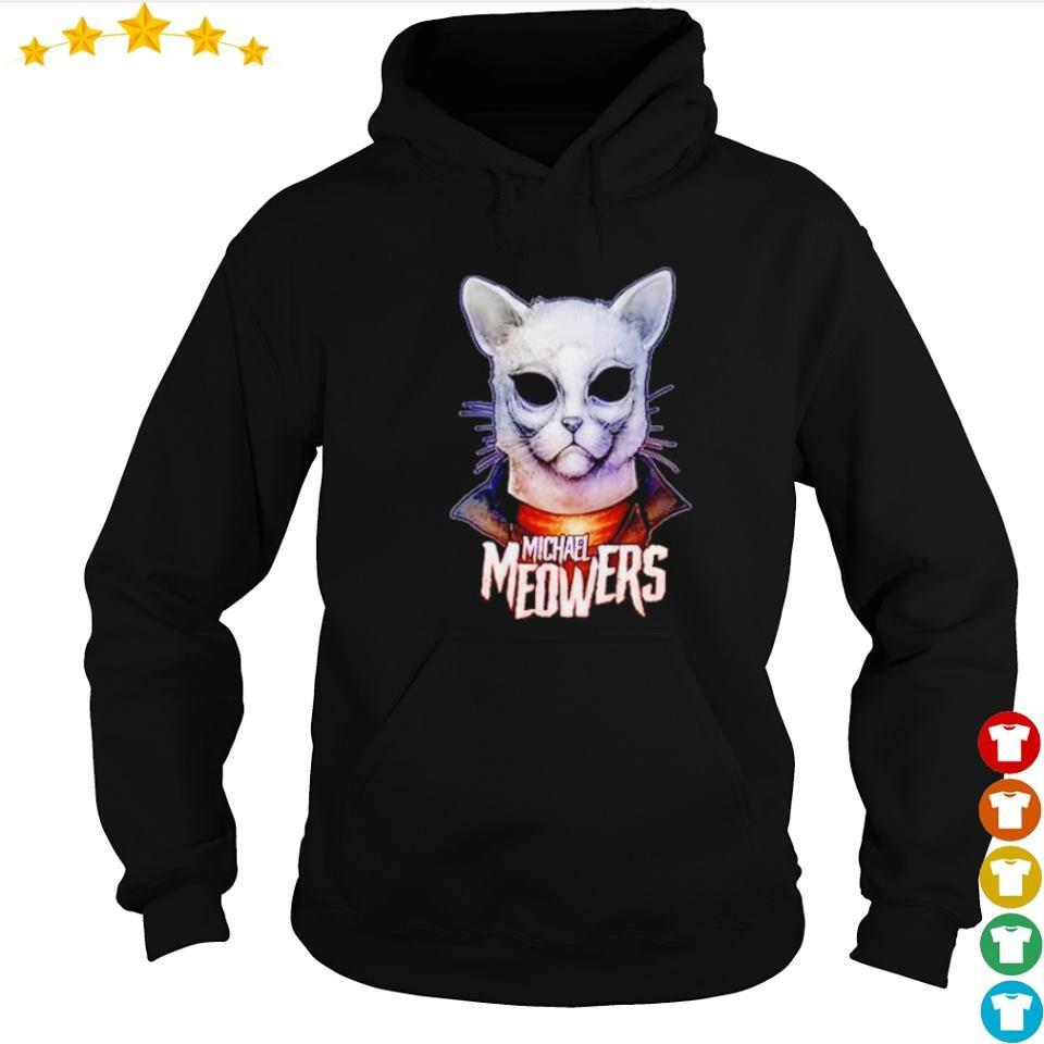 Scary Michael Myers meowers cat Halloween s hoodie