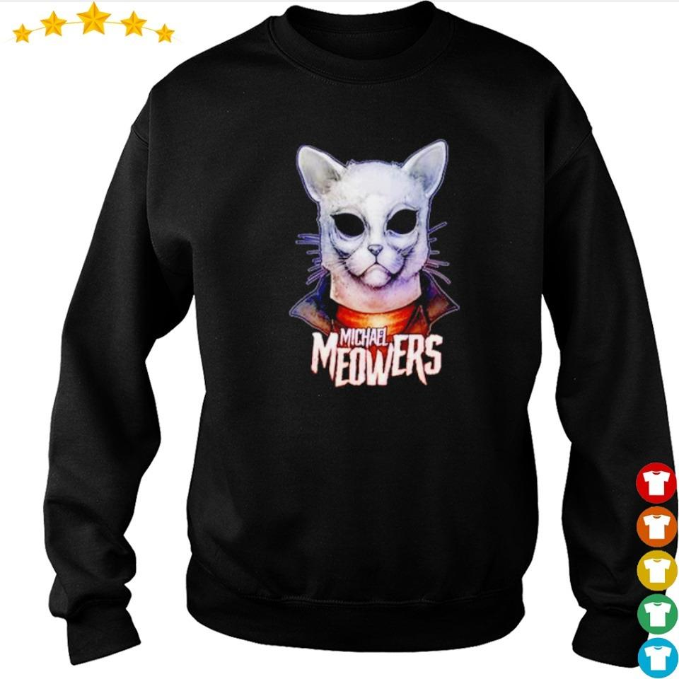 Scary Michael Myers meowers cat Halloween s sweater