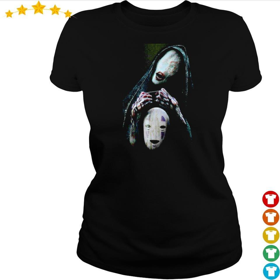 Scary No-Face character Halloween s ladies tee