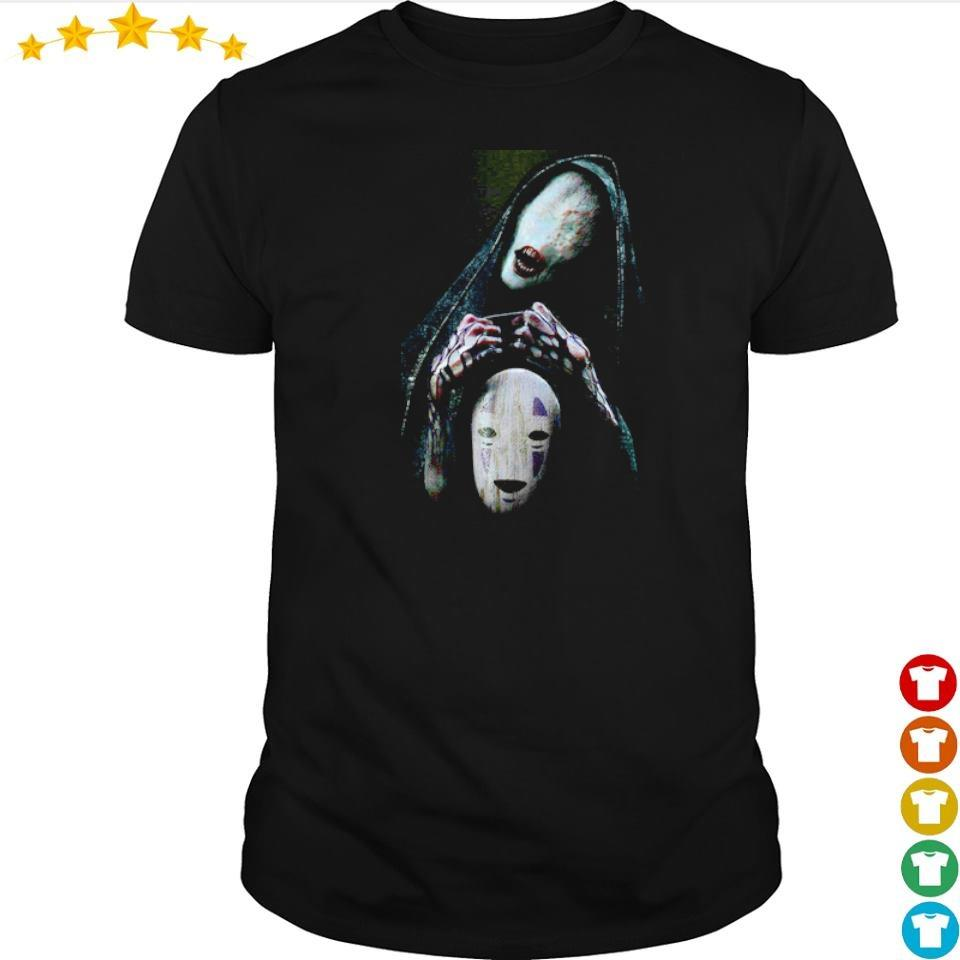 Scary No-Face character Halloween shirt