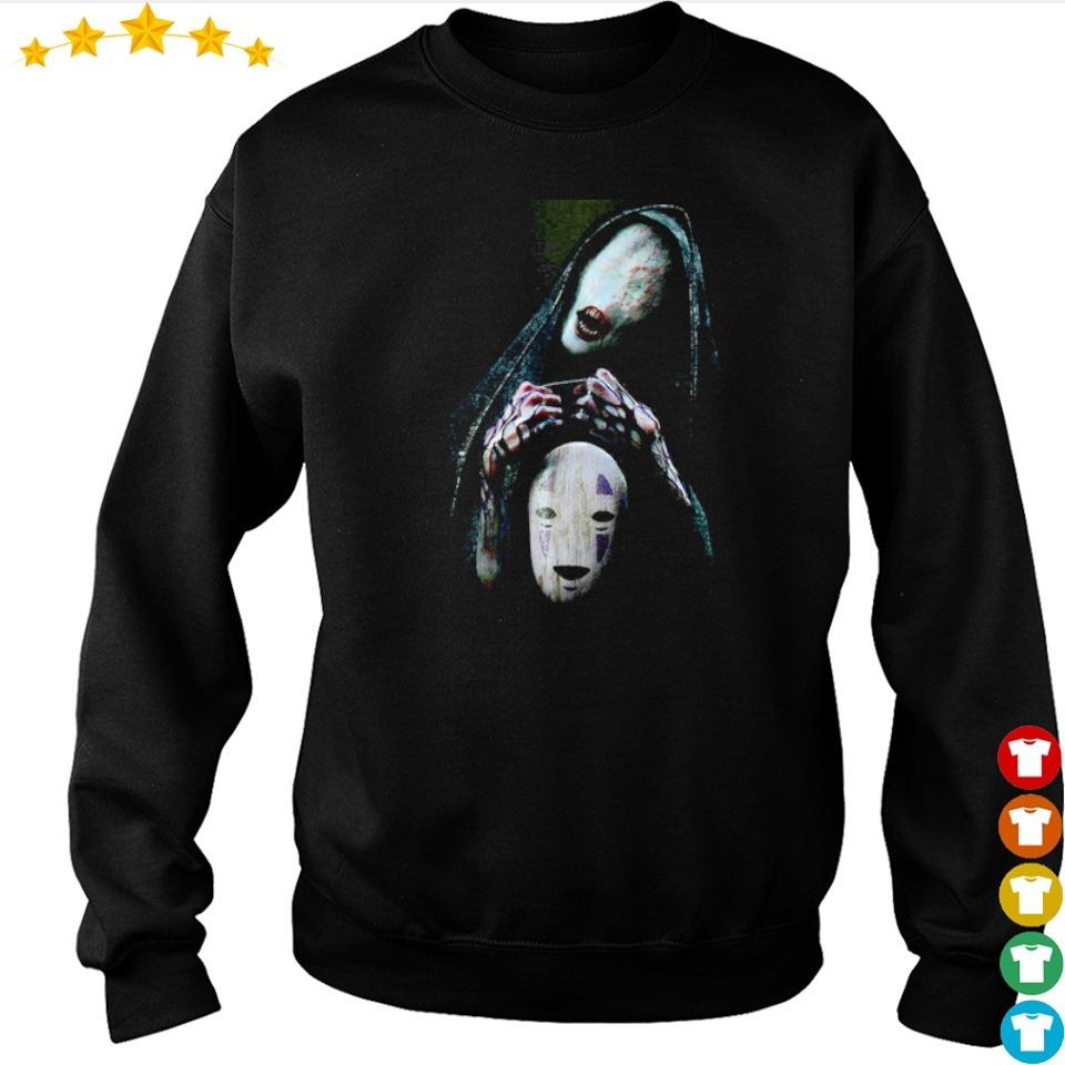 Scary No-Face character Halloween s sweater