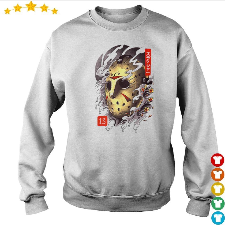 Scary oni Jason Mask Halloween s sweater