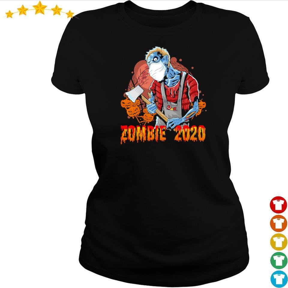 Scary zombie 2020 happy Halloween s ladies tee