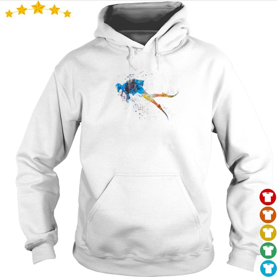 Scuba diver watercolor art s hoodie