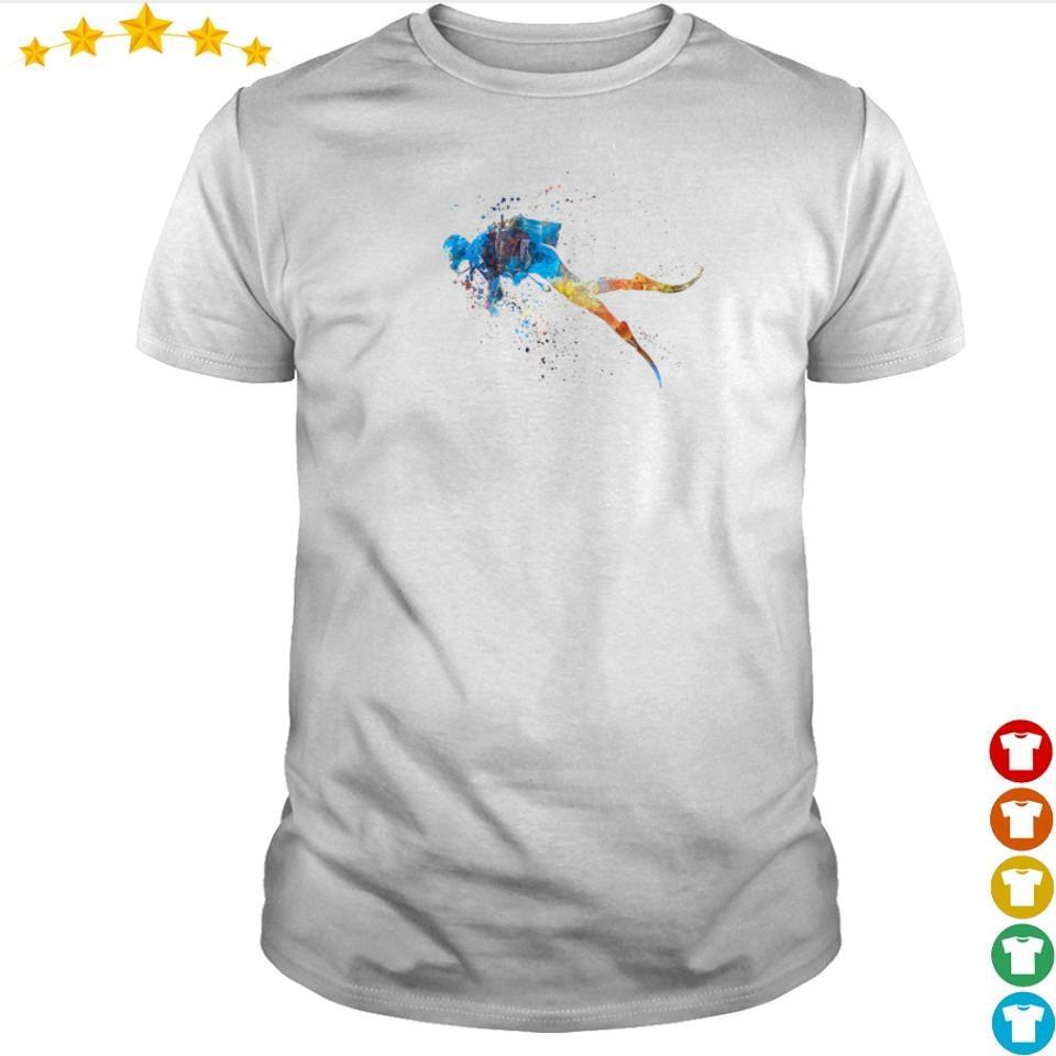 Scuba diver watercolor art shirt
