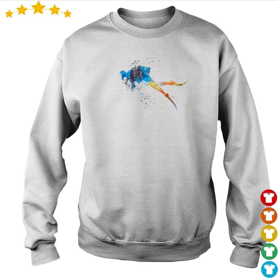 Scuba diver watercolor art s sweater