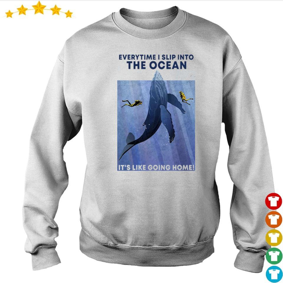 Scuba Diving everytime I slip into the ocean it's like going home s sweater