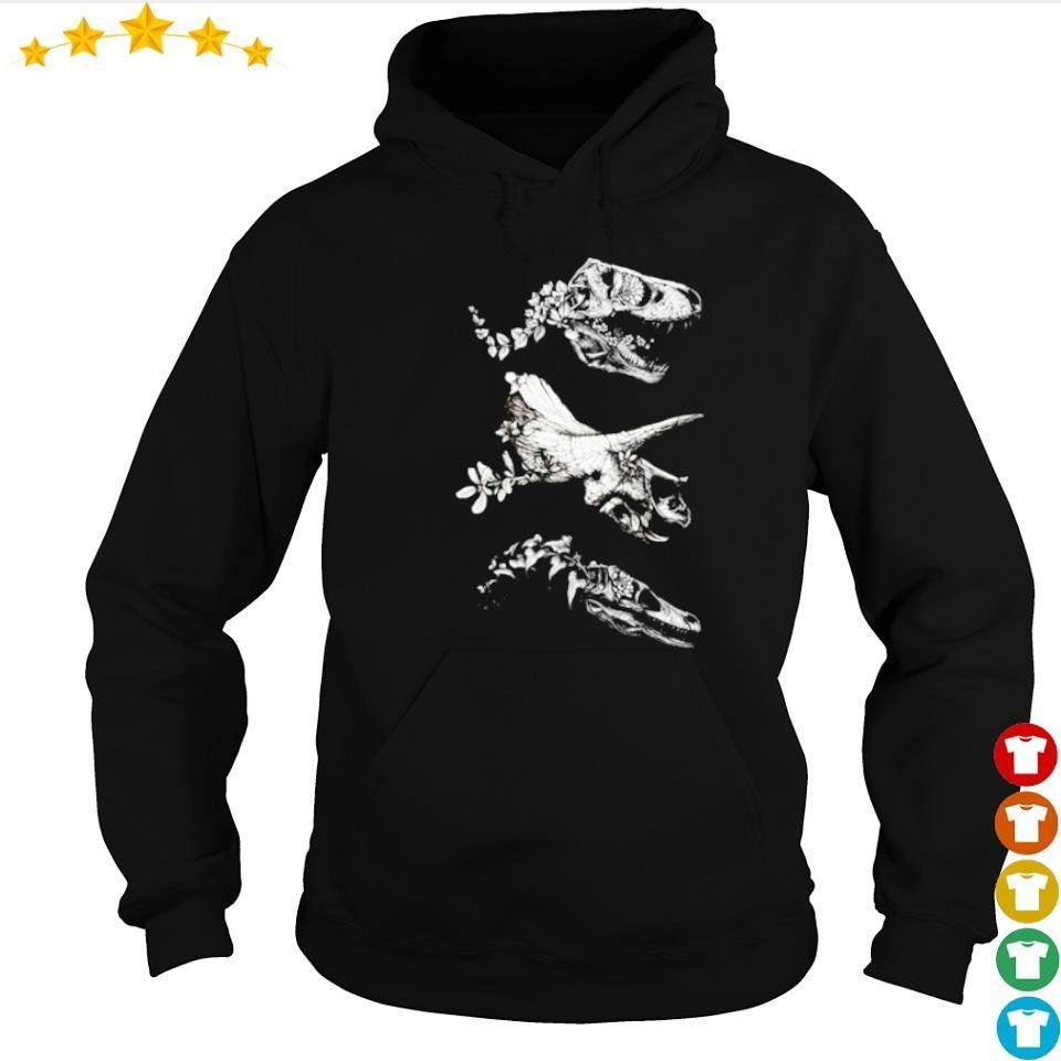 Skeleton dinosaur jurassic bloom s hoodie