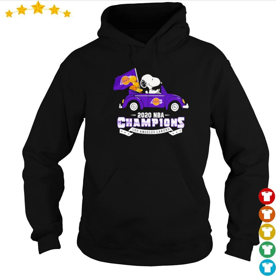 Snoopy riding 2020 NBA champions Los Angeles Lakers s hoodie