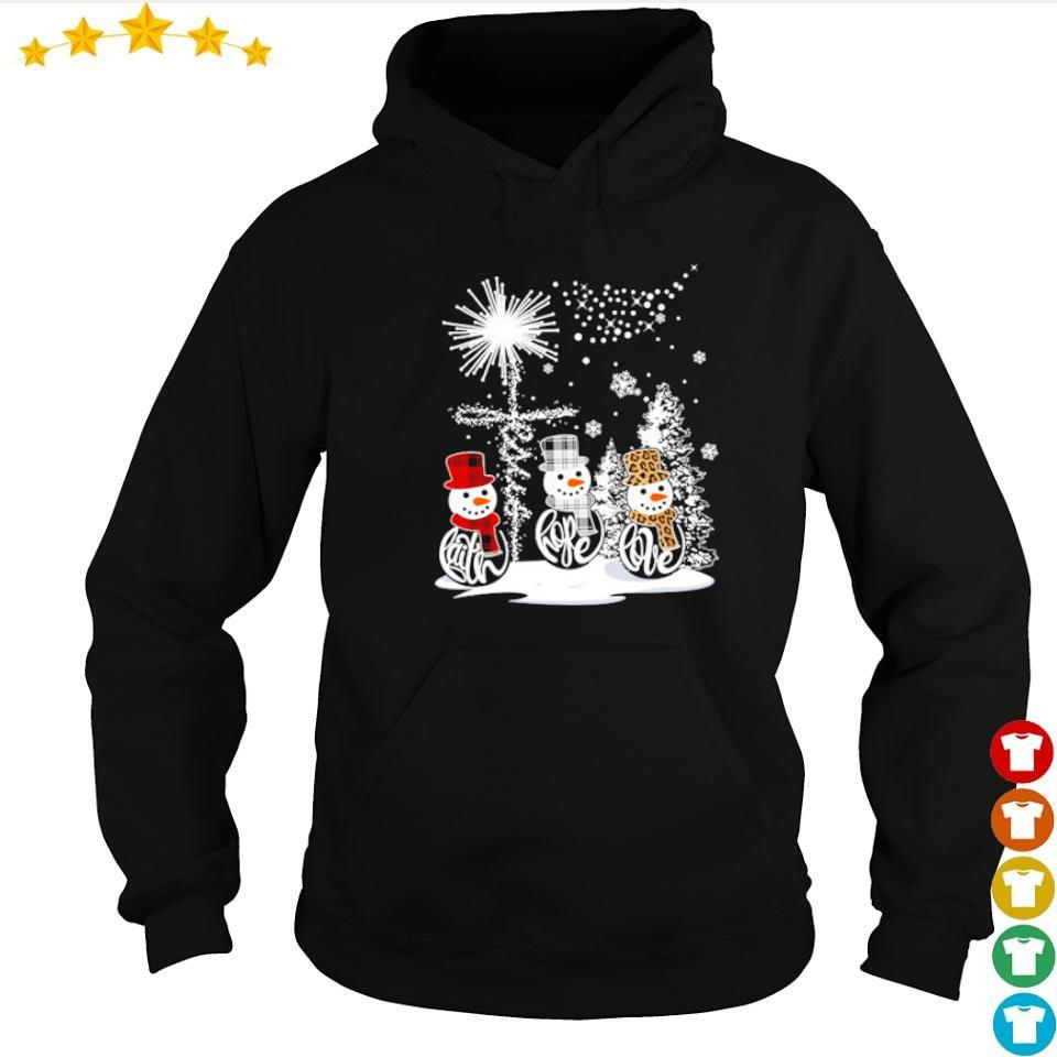 Snowman faith hope love happy Christmas s hoodie